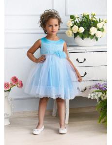 Платье нарядное небесно-голубое Рафаэла